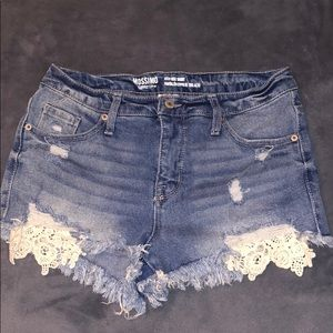 Mossimo High Rise Denim Short Size 28